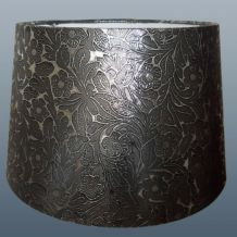 Foil silver empire drum from